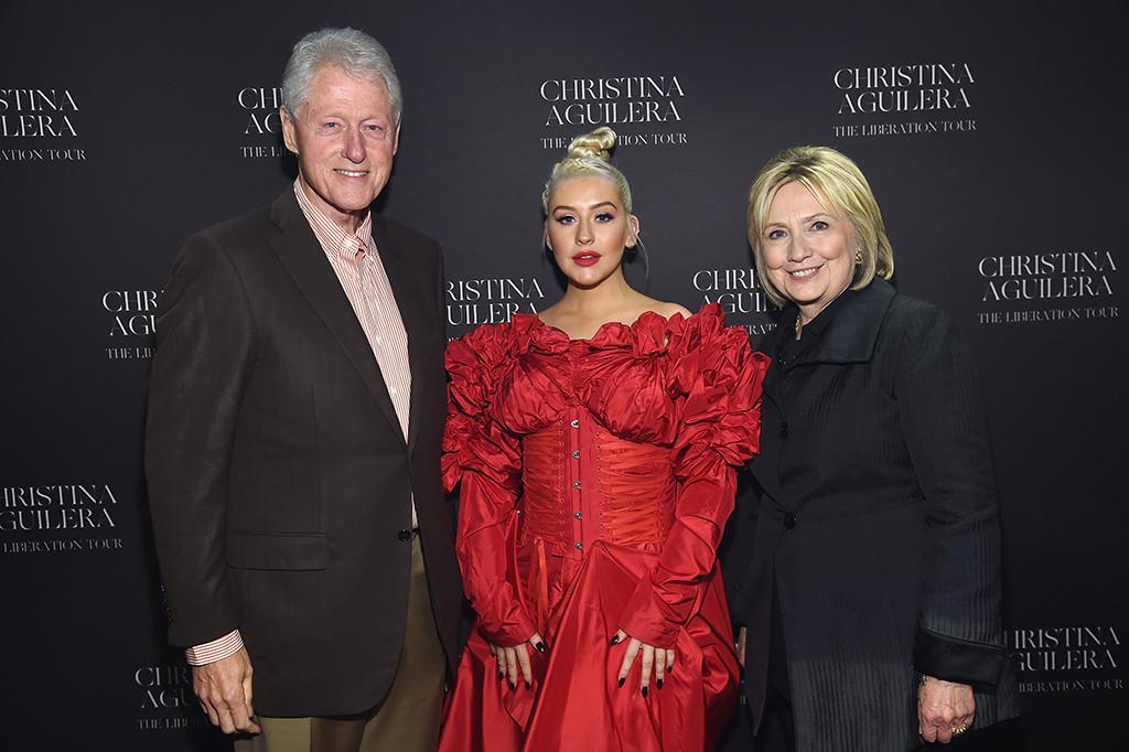 Bill Clinton, Christina Aguilera, Hillary Clinton