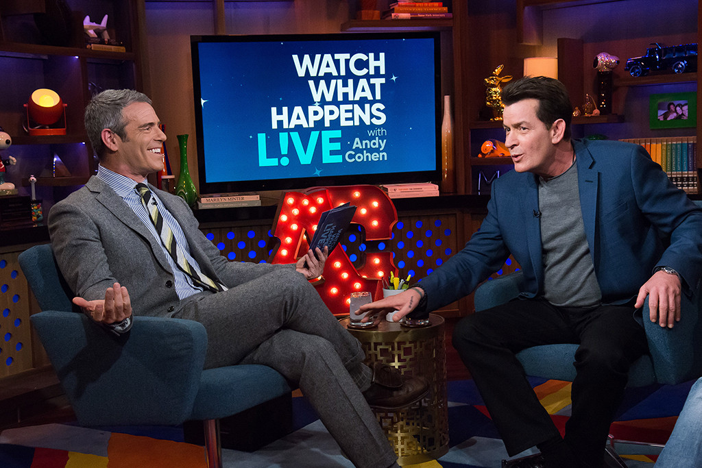 Andy Cohen, Charlie Sheen