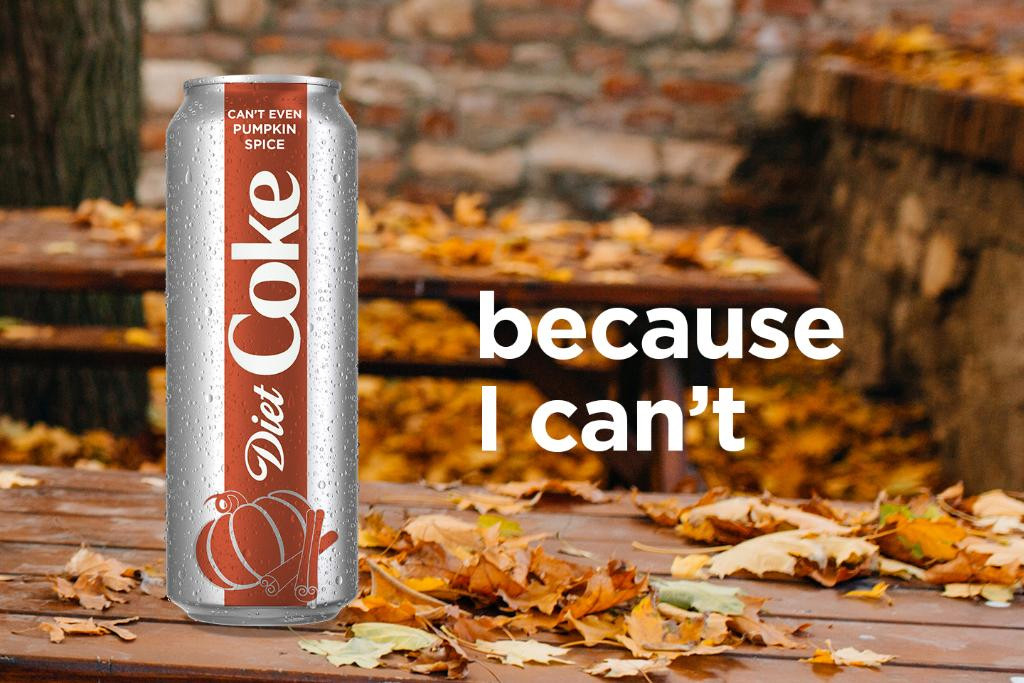 Diet Coke, Pumpkin Spice, Joke