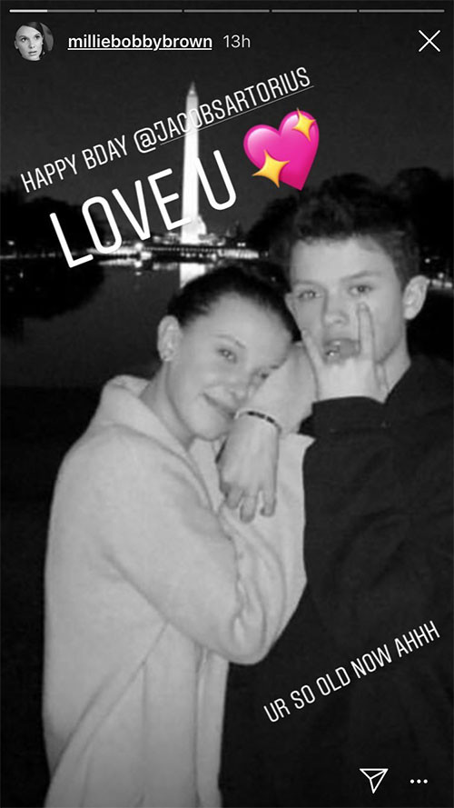 Millie Bobby Brown, Jacob Sartorius