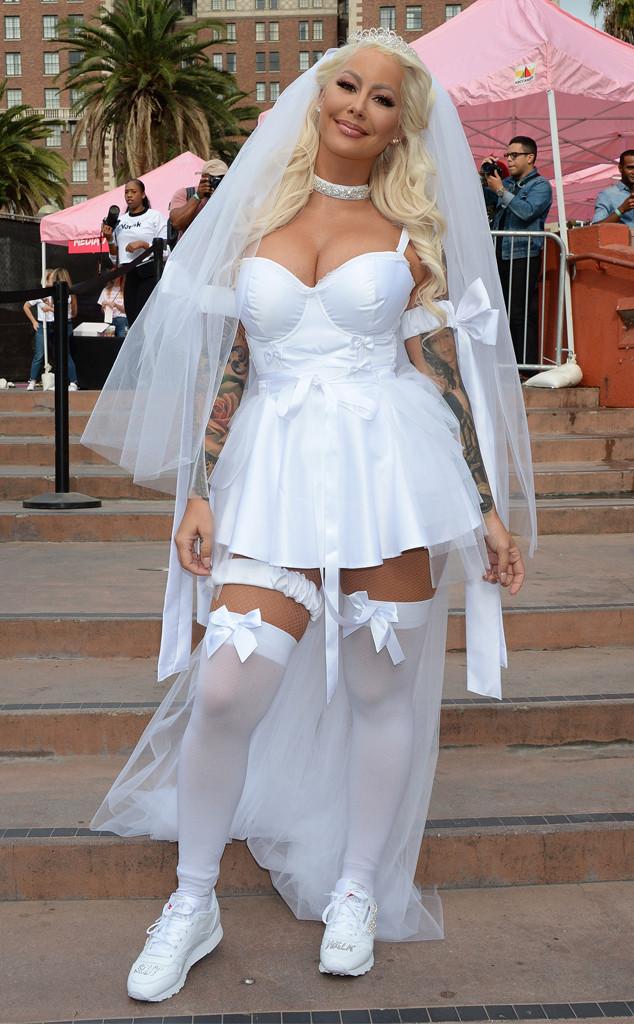 Amber Rose Dresses Up Like A Sexy Bride At Slutwalk 2018  E News Uk-3418