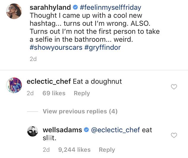 Wells Adams, Sarah Hyland, Instagram