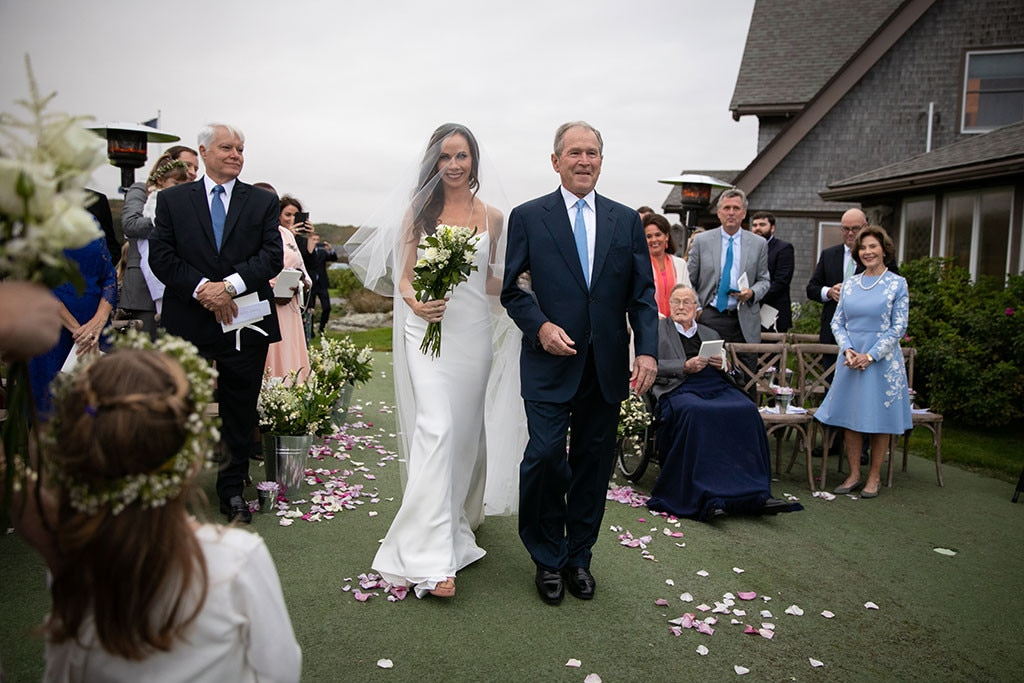 Barbara Bush & Craig Coyne -  Theactivist  married her longtime beau  in October at the Bush family compound in Kennebunkport, Maine, surrounded by members of her formidable family dynasty. The bride wore Vera Wang and was walked down the aisle by her dad, former President George W. Bush.