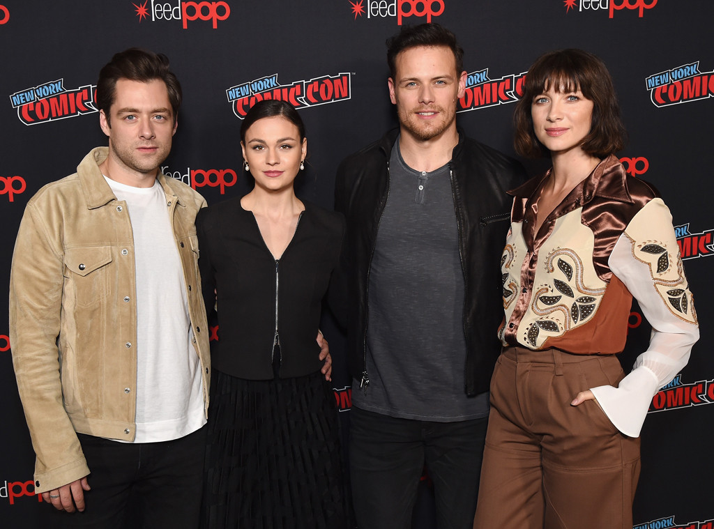 New York Comic-Con, Richard Rankin, Sophie Skelton, Sam Heughan, Caitriona Balfe, Outlander Cast