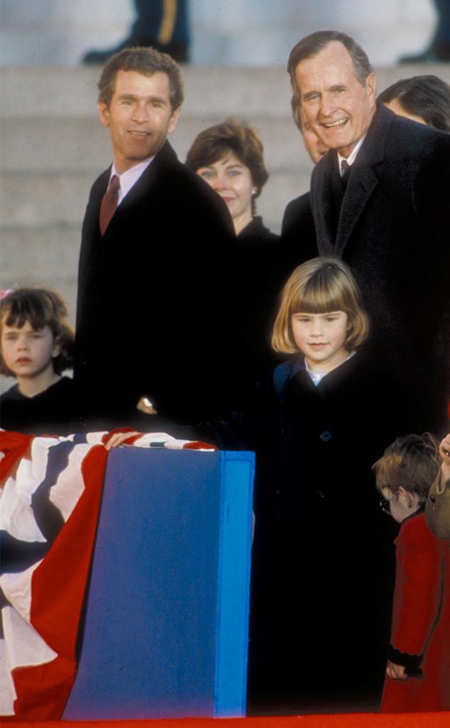 Jenna Bush, Barbara Bush, George H.W. Bush Presidential Inauguration, 1989