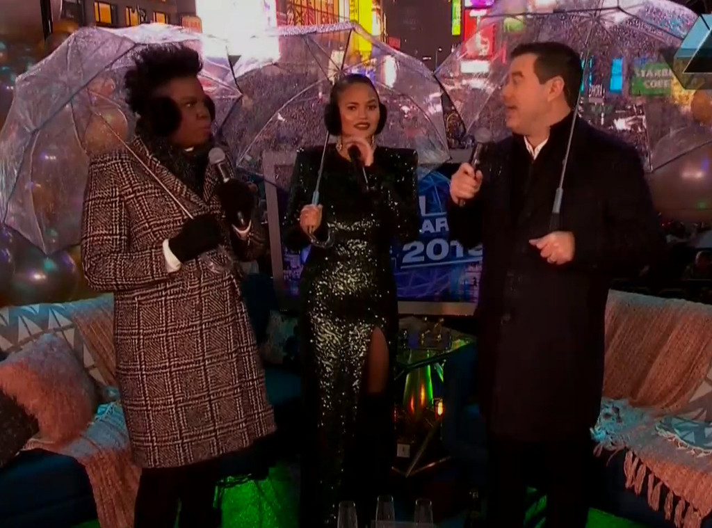 Chrissy Teigen, Leslie Jones, Carson Daly, New Year's Eve 2018