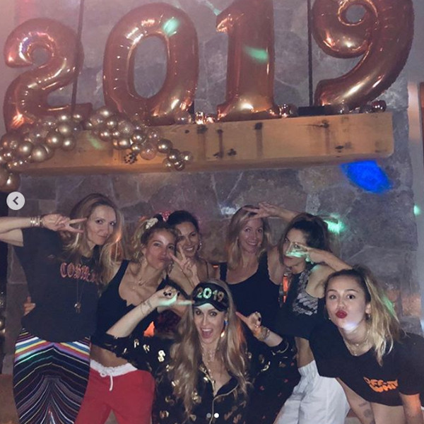 Elsa Pataky, Miley Cyrus, New Year's Eve 2018