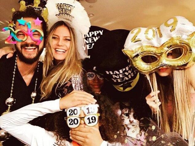 Heidi Klum, Tom Kaulitz, New Year's Eve 2018