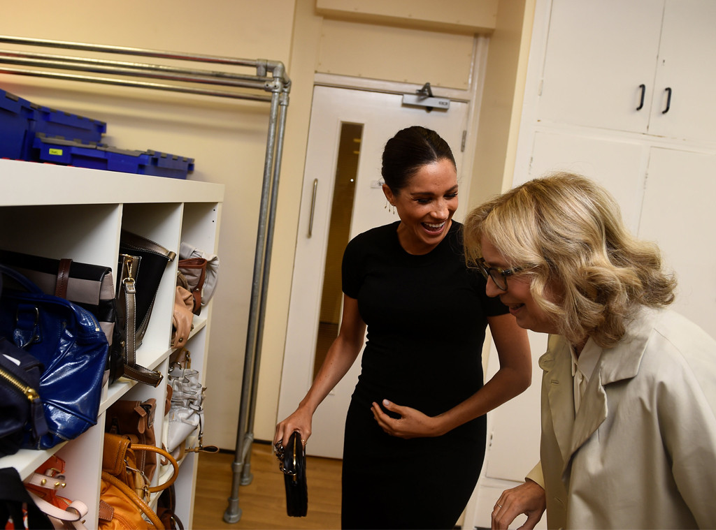 Meghan Markle, Lady Juliet Hughes-Hallett, Smart Works Visit