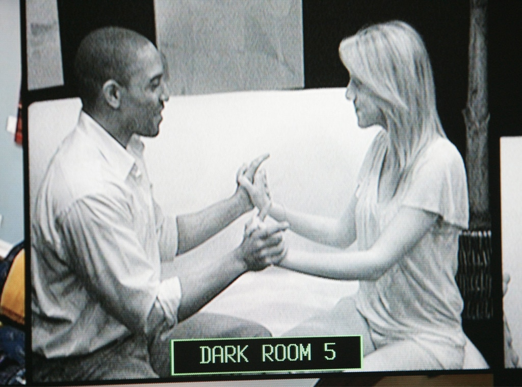 Dating in the Dark  (ABC) -  In this ABC series that ran for two seasons in 2009 and 2010, three men and three women lived in separate parts of a house, and could only interact with the opposite sex while in the dark. Throughout each episode, contestants can learn about their potential matches by seeing items they brought into the house or learning about their personalities, but they can only see each other in a complicated reveal process that involves two-way mirrors.