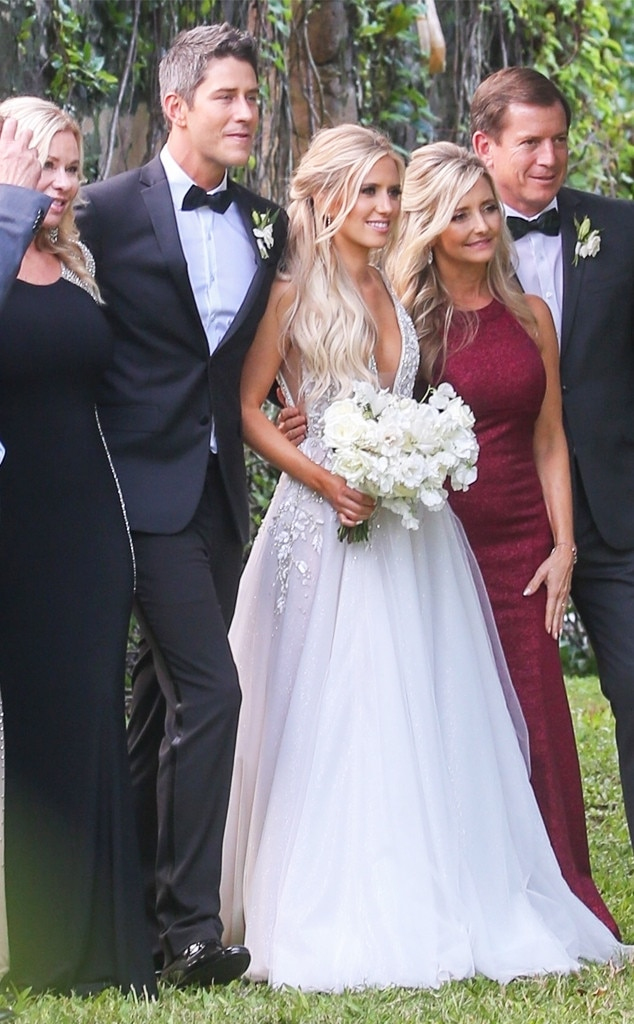 """Arie Luyendyk Jr. & Lauren Burnham -  The parents-to-be  said """"I Do""""  on the island of Maui with The Bachelor host Chris Harrison as their officiant."""