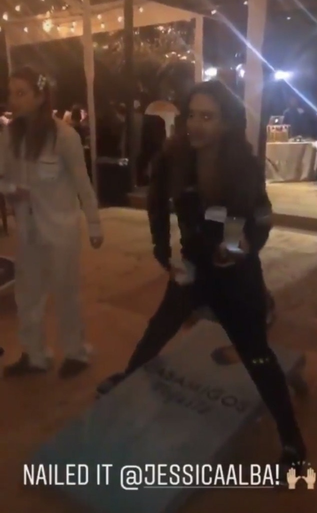 Getting in the Zone -  The actress takes corn hole very seriously.