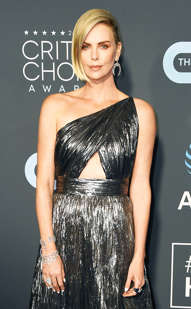 Best Beauty At Critics Choice Awards 2019 Charlize Theron Connie