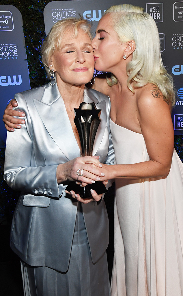Glenn Close, Lady Gaga, 2019 Critics Choice Awards, Show