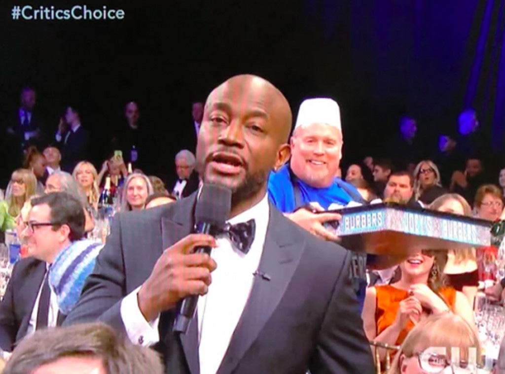 Taye Diggs, Joey's Burgers Guy, Joey's Burgers, Burger Guy, 2019 Critics Choice Awards