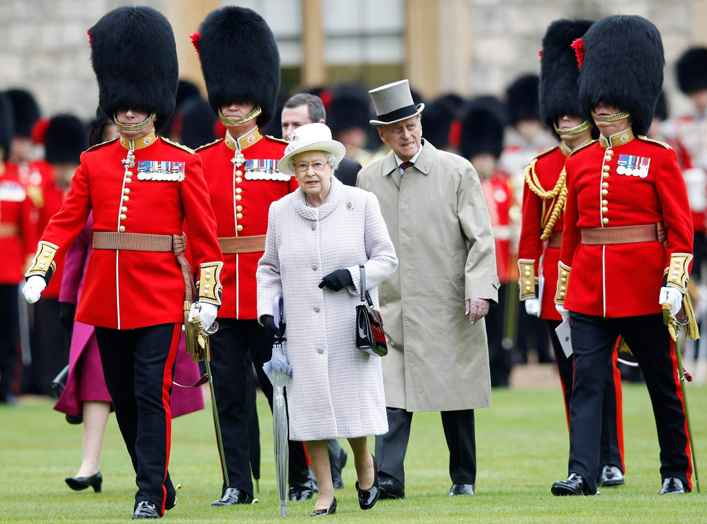 Queen Elizabeth II, Prince Philip, Guards