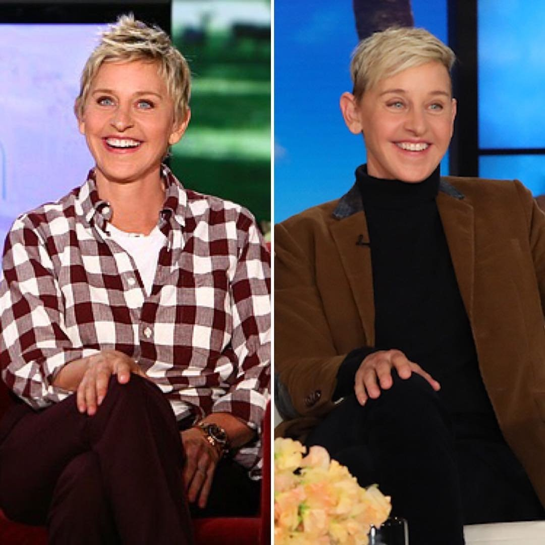 "Ellen DeGeneres -  ""#10yearchallenge. I never realized how differently I hold my hand now."""