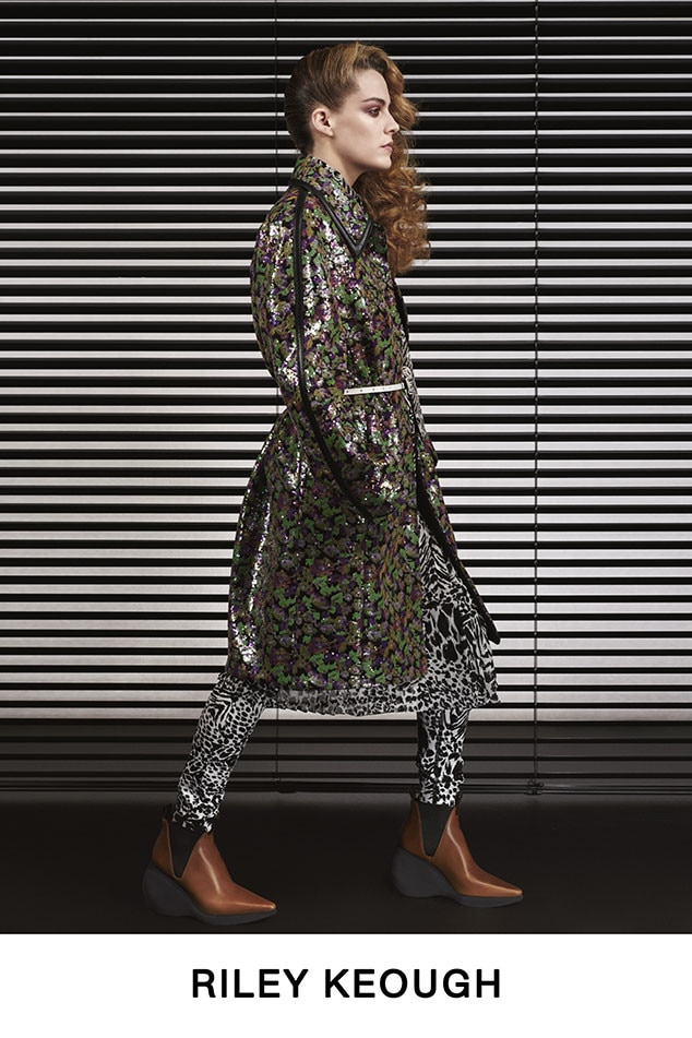 Riley Keough -  The actress rocks prints on her own personal runway.
