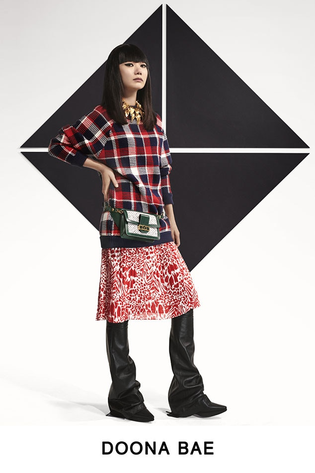 Doona Bae -  The actress is pretty in plaid.