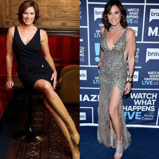 "Luann de Lesseps -  ""Here's me doing the 2009 versus 2019 challenge. Fun fact rhony s2 premiered in 2009!#timeflies"""