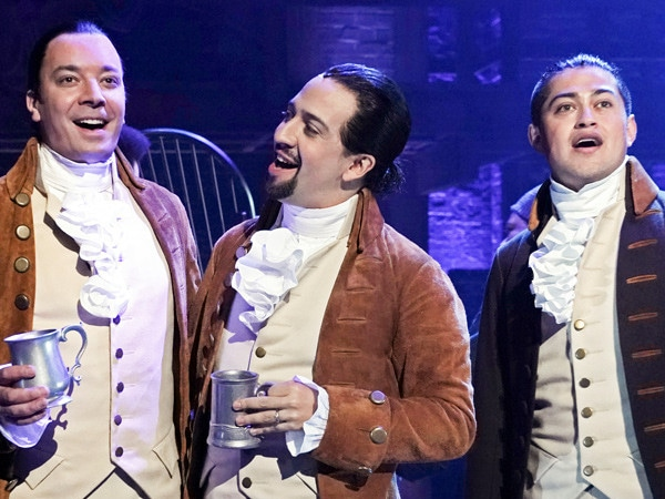 Jimmy Fallon Goes Full <i>Hamilton</i> and Sings With Lin-Manuel Miranda