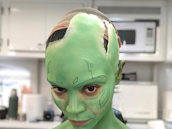 Watch Zoe Saldana Transform Into Gamora in This Time-Lapse Video