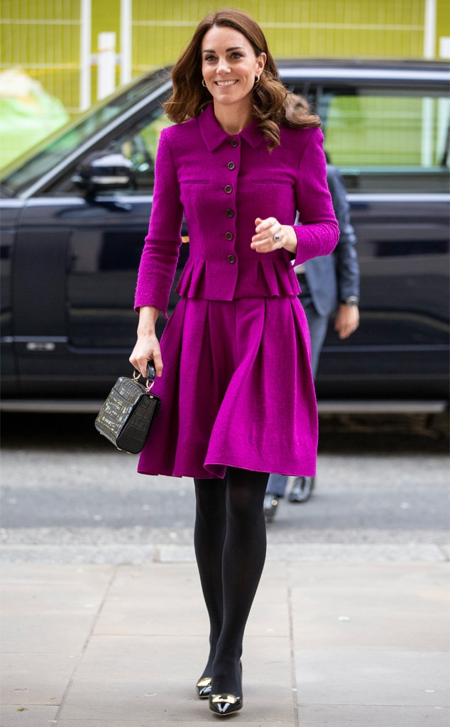 Bold and Beautiful -  The royal isn't afraid to rock a bold shade, like this pretty magenta she wore to The Royal Opera House.