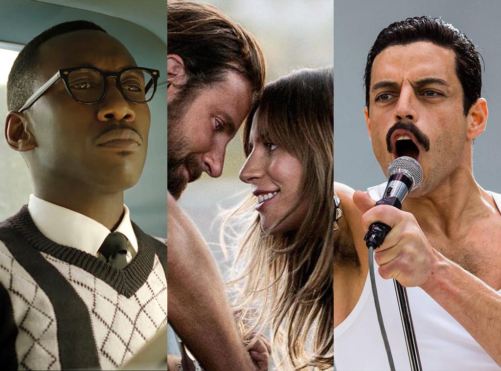 Green Book, A Star Is Born, Bohemian Rhapsody, Oscar Nominations
