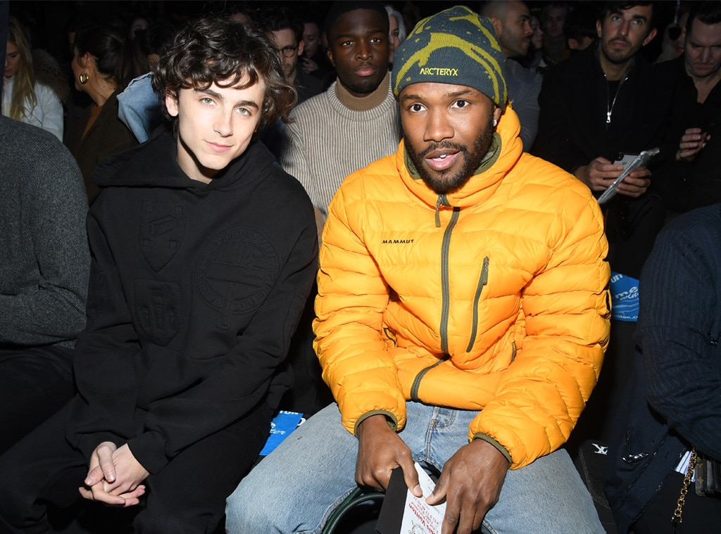Timothee Chalamet & Frank Ocean -  Beautiful boys! The actor and singer sit together in the front row at the Louis Vuitton Menswear show during Paris Fashion Week.