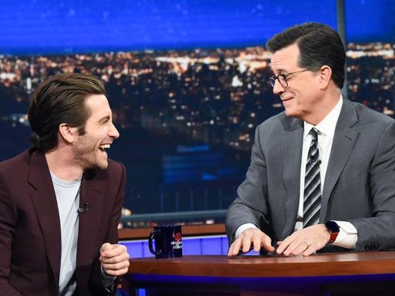 "Jake Gyllenhaal Calls Out Stephen Colbert for Naming Maggie the ""Better Gyllenhaal"""