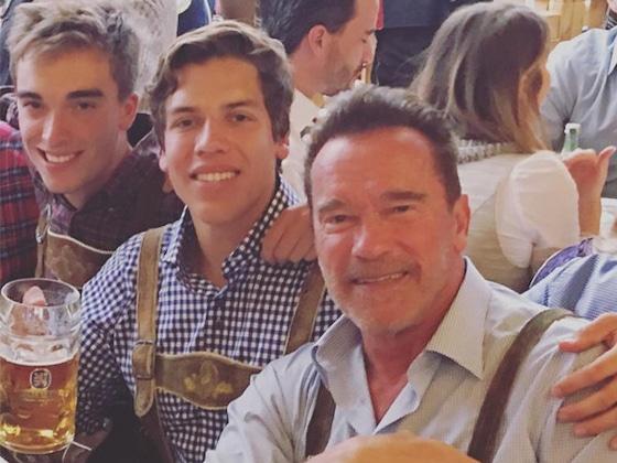 Arnold Schwarzenegger's Son Joseph Baena Recreates Dad's Bodybuilder Pose