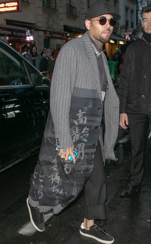 Celebs at Fashion Week, Chris Brown