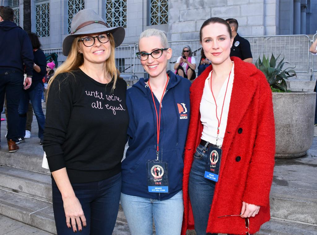 Connie Britton, Ingrid Michaelson, Evan Rachel Wood, 2019 Women's March