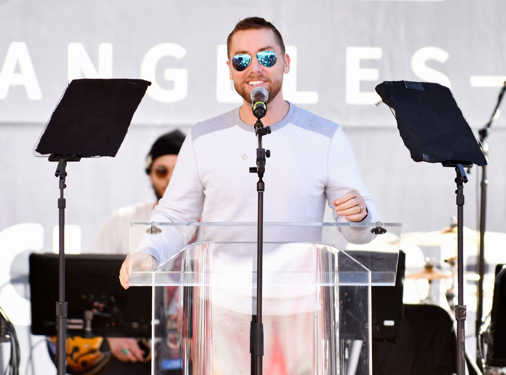 Lance Bass, 2019 Women's March