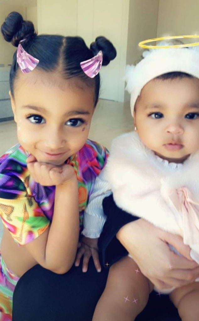 Just Angelic -  True and North looked glam as they took a selfie.