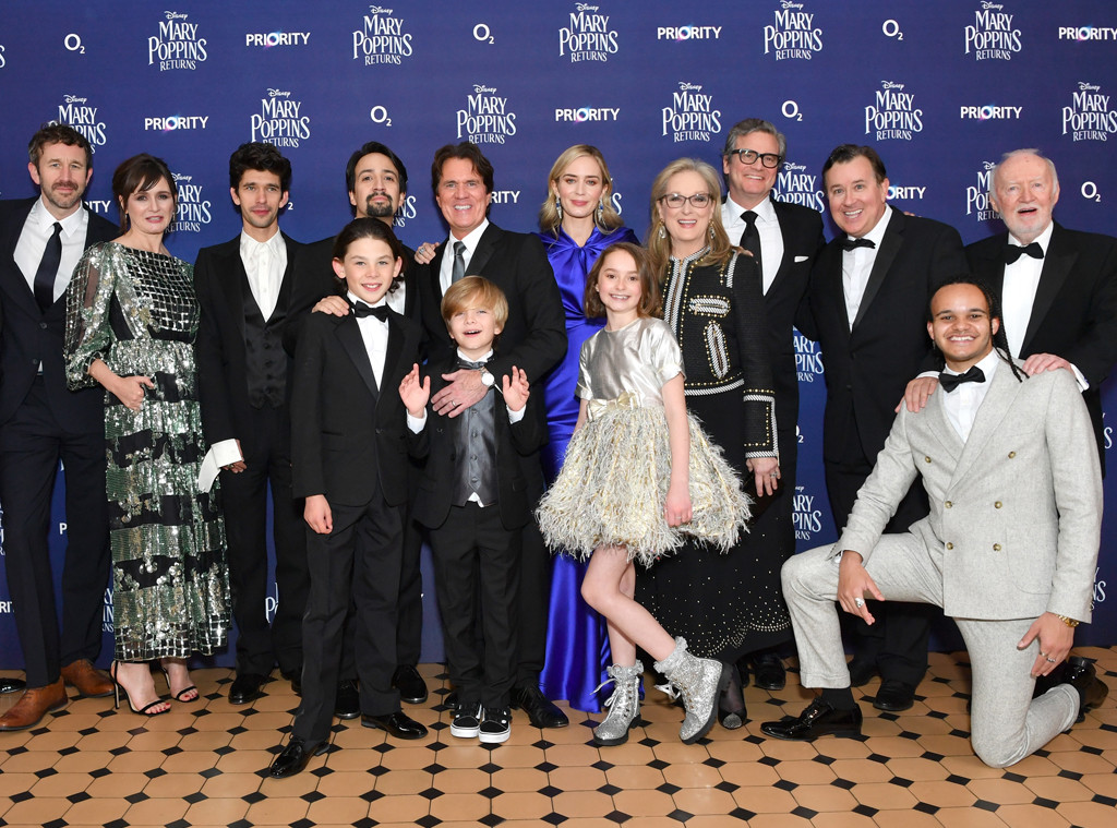 Mary Poppins Returns, Cast, European Premiere