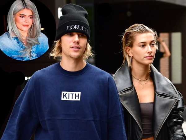 """Kylie Jenner Invites """"Lovebirds"""" Justin Bieber and Hailey Baldwin on Vacation"""