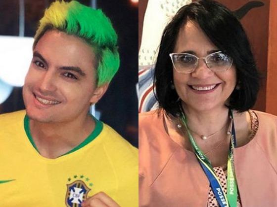 Felipe Neto discute com ministra Damares Alves no Twitter