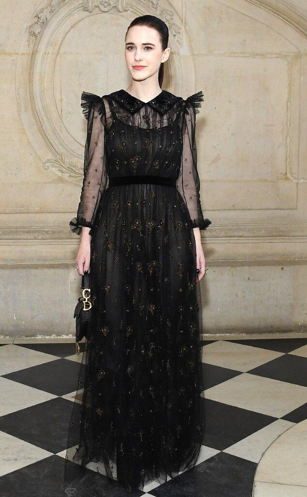 Rachel Brosnahan, 2019 Paris Fashion Week, Christian Dior Haute Couture