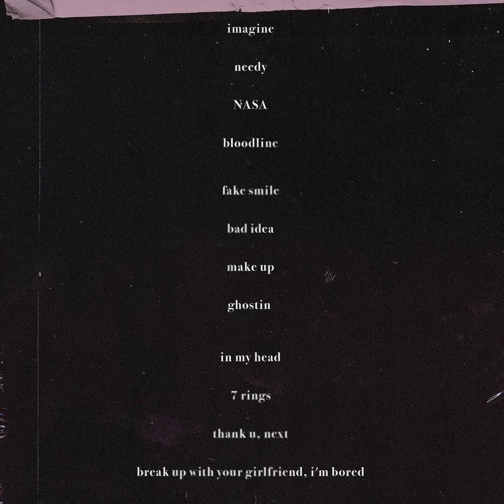 Ariana Grande, Thank U, Next, Tracklist