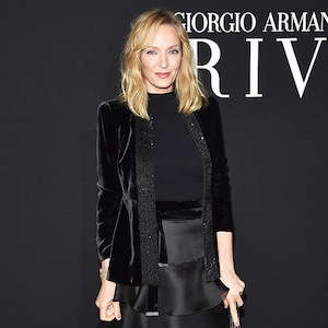 Uma Thurman, 2019 Paris Fashion Week, Giorgio Armani