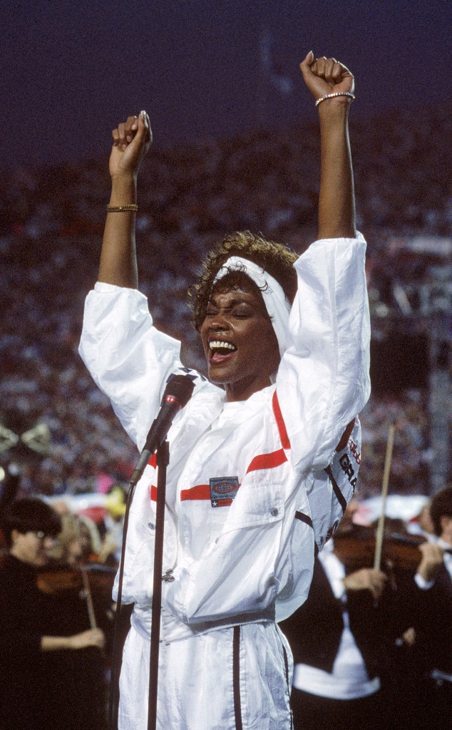 Whitney Houston, Super Bowl XXV, National Anthem
