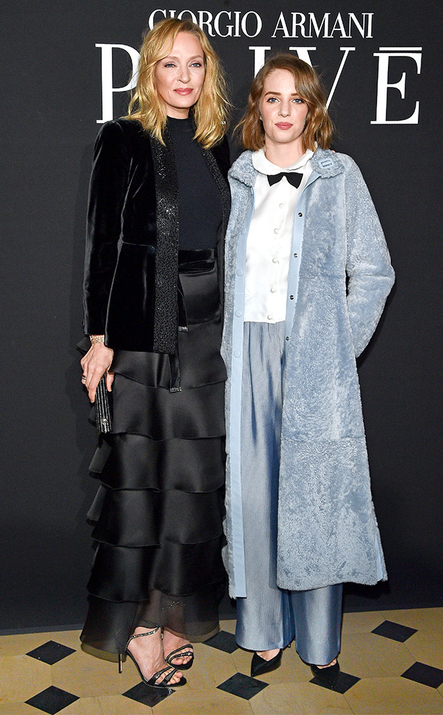 Uma Thurman and Her Daughter Maya Hawke Are Totally Twinning During Fashion Week
