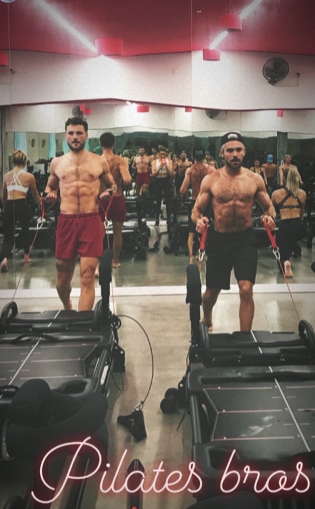 Zac Efron -  The Hollywood actor joins brother Dylan Efron at The Studio (MDR) for an intense Lagree Method workout with trainer Mary Miller.