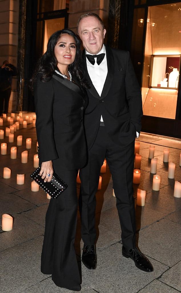 Salma Hayek & Francois-Henri Pinault -  Attended theBoucheron dinner on Jan. 20, 2019.