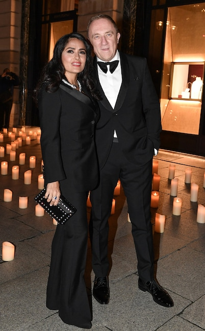 Fashion Week After Parties/Dinner, Salma Hayek and Francois-Henri Pinault