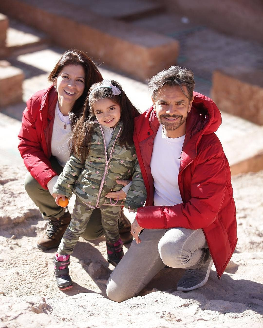 Familia Derbez en Marruecos