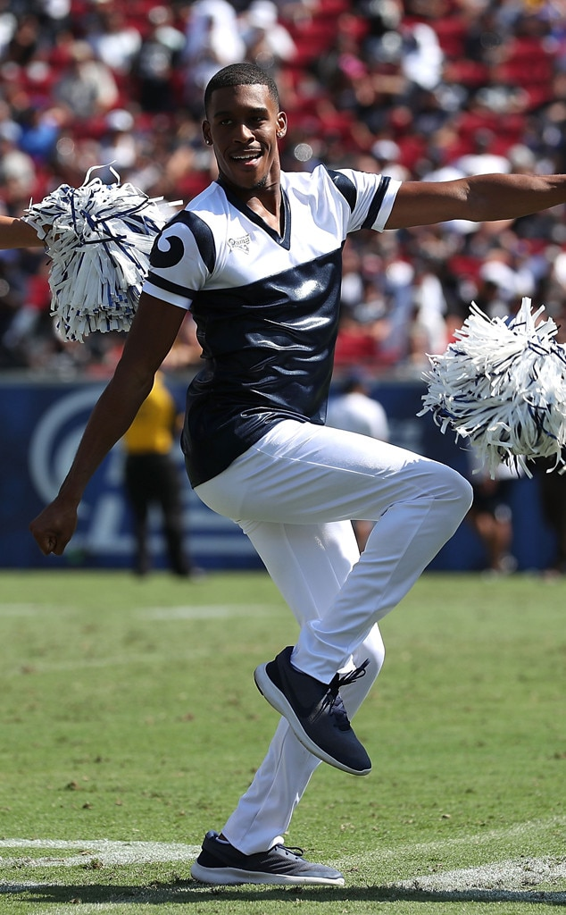 Male Cheerleaders on the RAMs, Quinton Peron