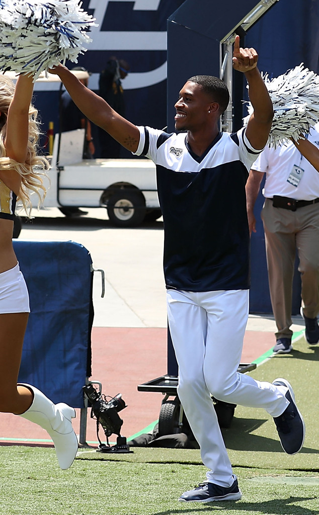 Male Cheerleaders on the RAMs, Quinton Peron