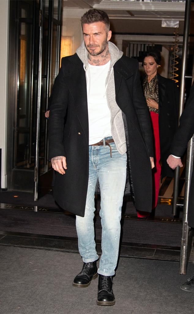 David Beckham -  Attended Victoria Beckham's Reebok line launch on Jan. 22, 2019.